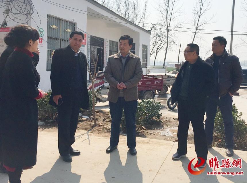 县委常委,组织部长王海涛到乡镇督导调研工作