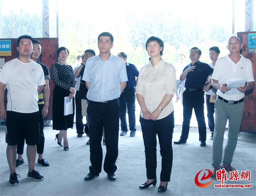 吴海燕调研商务中心区重点项目建设情况