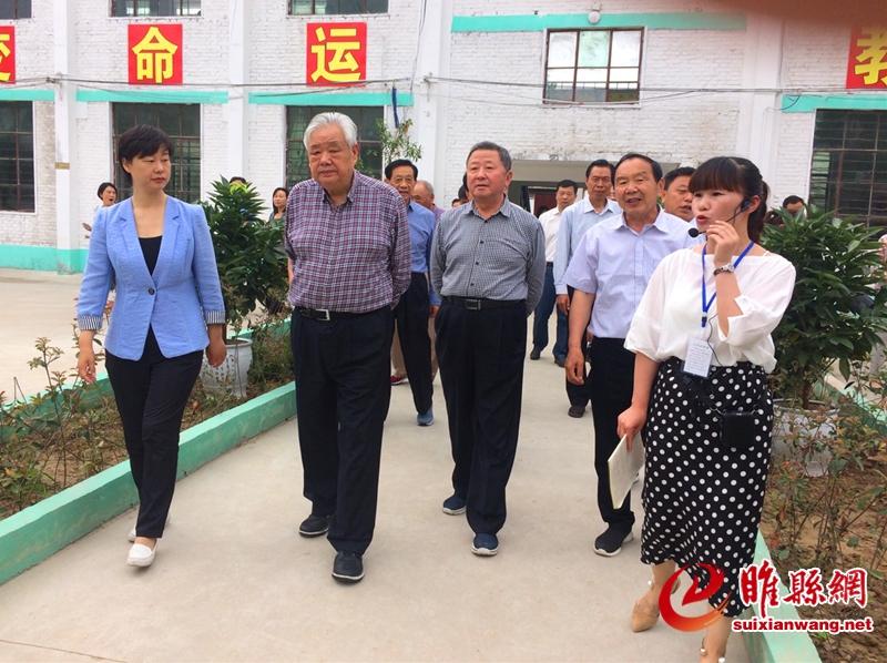 省关工委常务副主任张德广、李中央一行到睢县调研指导工作