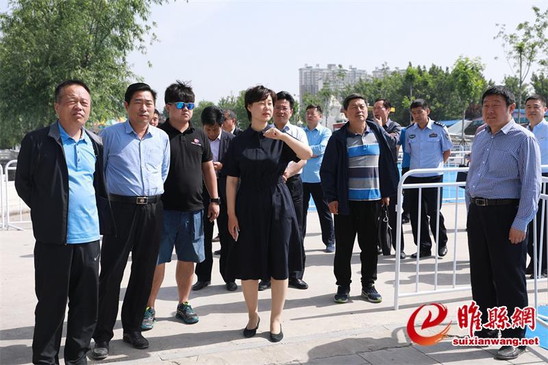 吴海燕检查中国铁人三项联赛河南睢县站筹备工作