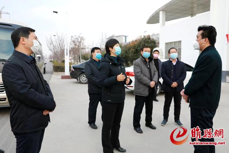 吴海燕到产业集聚区调研疫情防控和复工复产工作